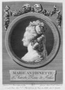 1781 Marie Antoinette looking sideways bust print by Boizot From pinterest.com:galeblair:antique-engravings: detint