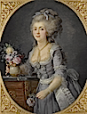 1781 (probable exhibit date) Adélaïde Genet, Madame Auguié, sister of Madame Campan and one of the last femme des chambre of Marie Antoinette by Anne Vallayer-Coster (auctioned)