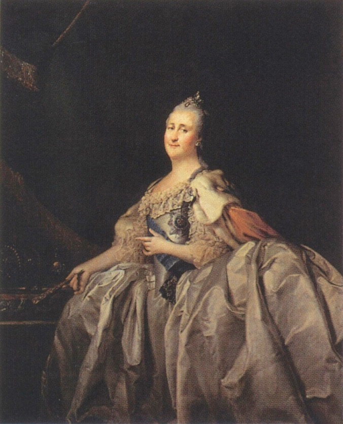 1782 Catherine II by Levitsky (State Russian Museum - St. Petersburg, Russia) Wm despot shadows slightly increased exposure