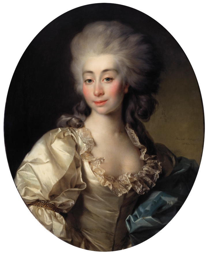 1782 Countess Ursula Mniszek by Dmitry Levitsky (State Tretyakov Gallery - Moskva, Russia) Google Art Project via Wm