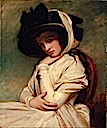 1782-1784 Emma Hart in a Straw Hat by George Romney (Huntington Library, Art Collections, and Botanical Gardens - San Marino, California USA)