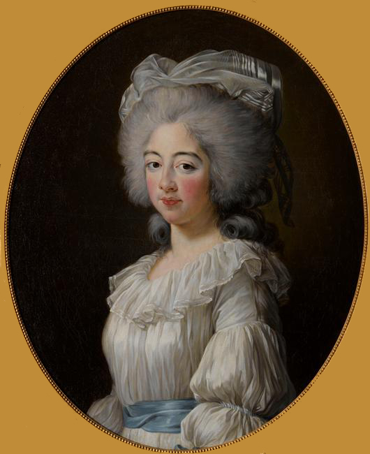 1782 Comtesse de Provence by Élisabeth Louise Vigée Lebrun (location unknown to gogm) From vivelareine.tumblr.com:post:1640642870