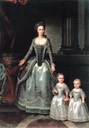1783 (before and before birth of 3rd daughter) Dorothea with her daughters, Wilhelmine and Pauline by ? (Rundāles pils muzejs - Pilsrundāle, Latvia)