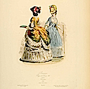 1783 French Baronesses 1870 print
