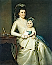 1783 Lady Williams and Child, by Ralph Earl (Metropolitan Museum - New York City, New York USA)