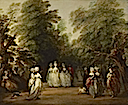 1783 The Mall in St. James Park by Thomas Gainsborough (Frick Collection - New York City, New York USA)