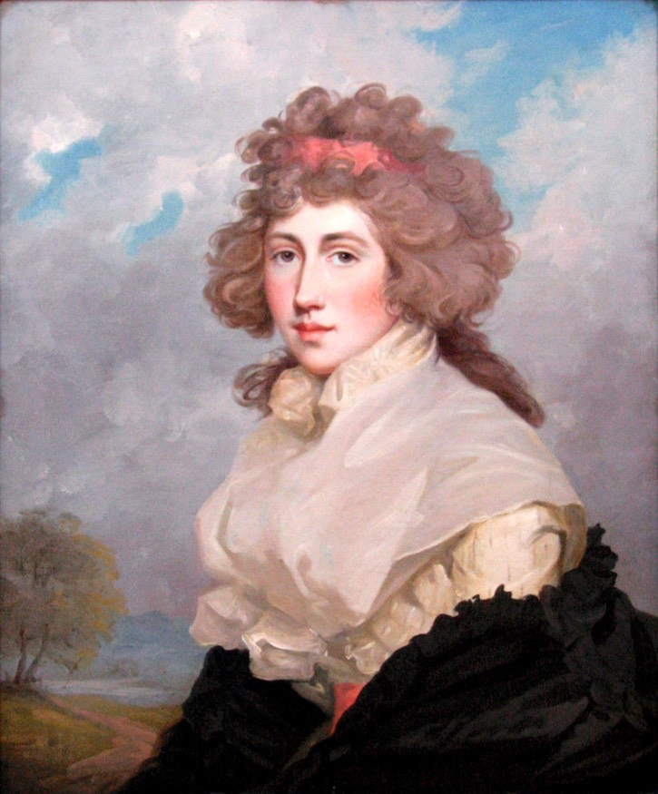 1784-1786 Lady Frances (Lascelles) Douglas by John Hoppner (University of Illinois Urbana-Champaign, Krannert Art Museum - Champaign, Illinois, USA) From kam.illinois.edu shadows
