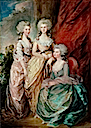 1784 Three eldest daughers of George III (Charlotte, Augusta and Elizabeth) by Gainsborough Dupont (1754-1797) after Thomas Gainsborough (Victoria and Albert Museum - London UK)