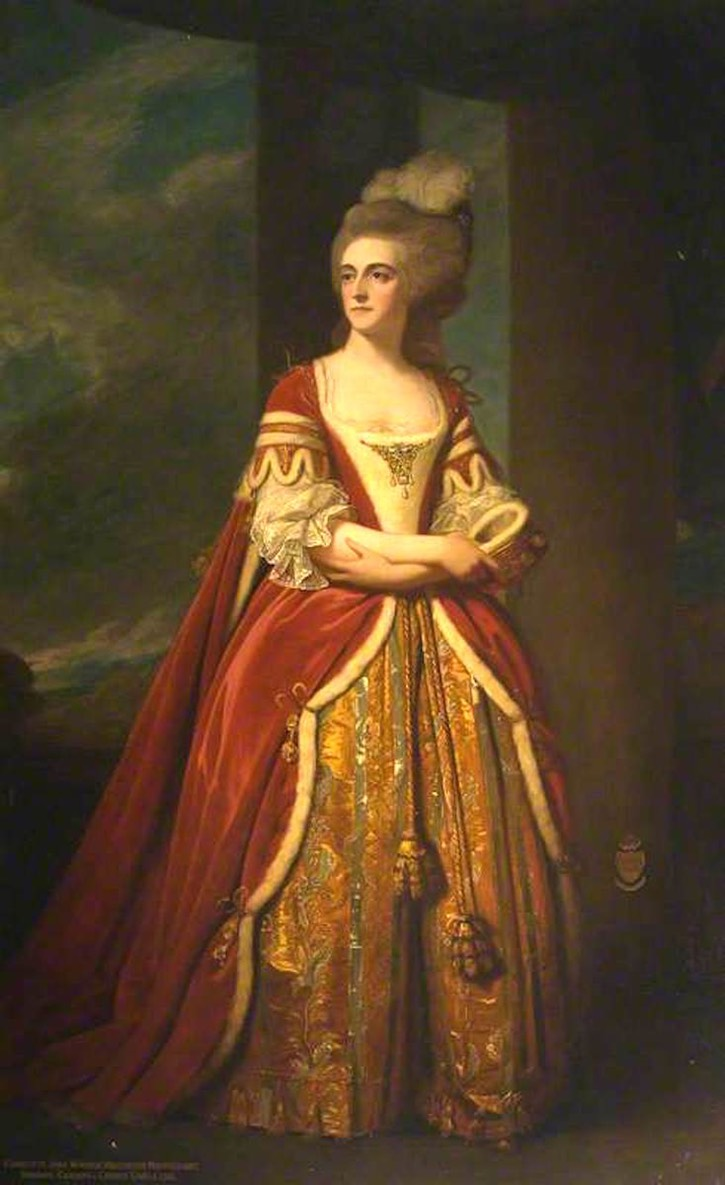 1785 Charlotte Jane Windsor b. 1746, Viscountess Mountstuart, Baroness Cardiff of Cardiff Castle by ? (Falkland Palace & Garden - Falkland, Fife, UK) bbc.co X 1.5