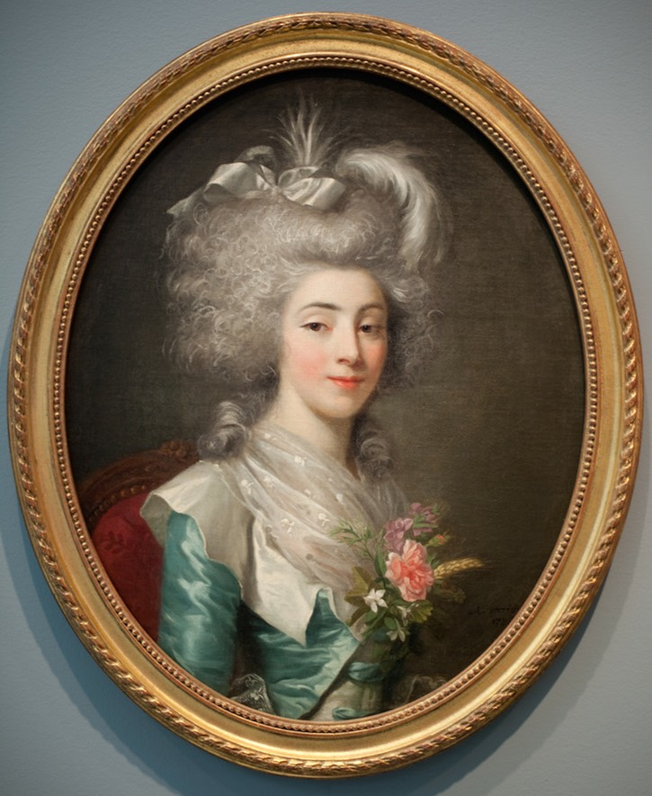 1785 Charlotte Marie de Gasville by Antoine Vestier (Carnegie Museum of Art, Pittsburgh Pennsylvania) size fixed