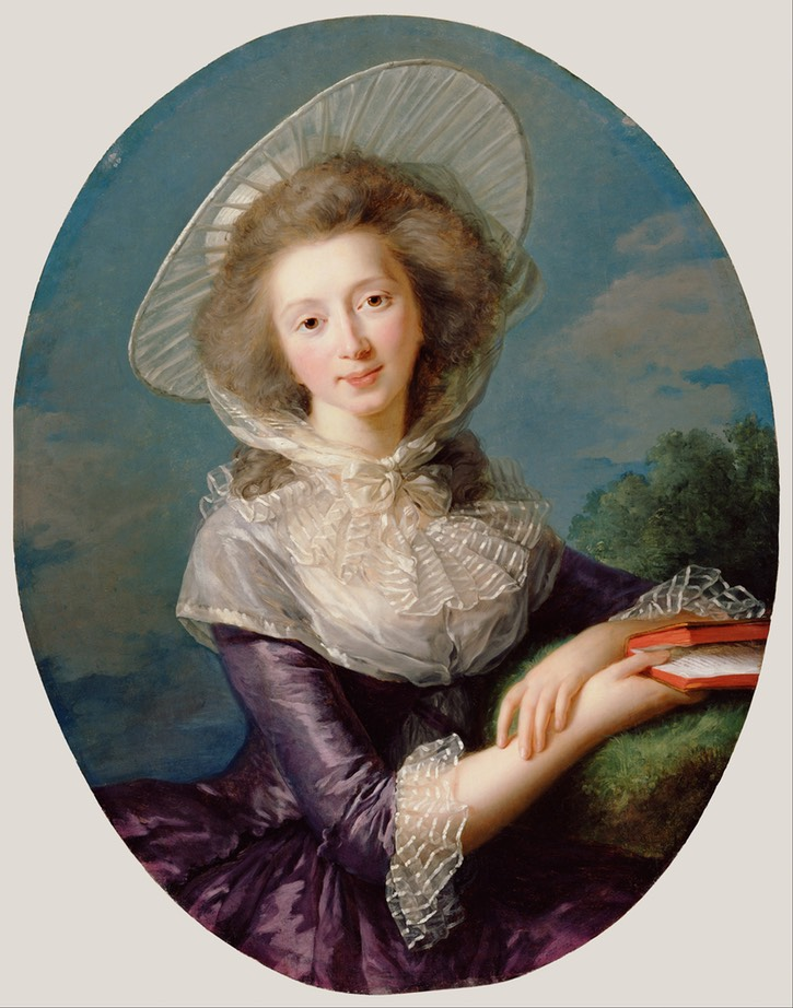 1785 Victoire Pauline de Riquet de Caraman, wife of Jean Louis, Vicomte de Vaudreuil by Élisabeth Louise Vigée-Lebrun (J. Paul Getty Museum - Los Angeles, California, USA) Google Art Project via Wm UPGRADE despot