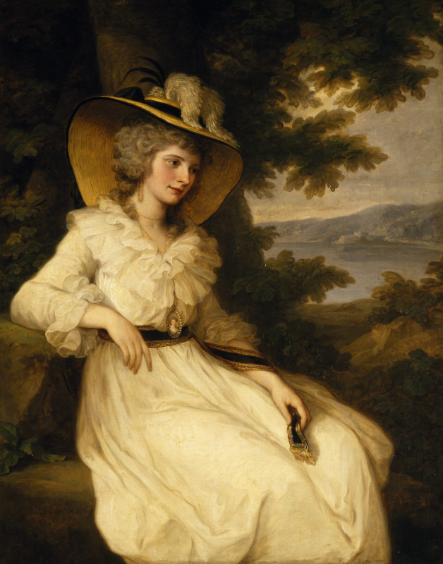 1785 Elizabeth Foster by Angelica Kauffman (Ickworth House - Bury St. Edmunds, Suffolk UK) Wm