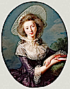 1785 Victoire Pauline de Riquet de Caraman, wife of Jean Louis, Vicomte de Vaudreuil by Élisabeth Louise Vigée-Lebrun (J. Paul Getty Museum - Los Angeles California)