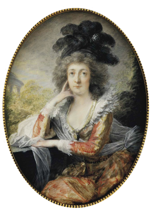 1786 Countess Mária Anna Esterházy de Galántha, née Pálffy de Erdöd (1747-1799) by Heinrich Friedrich Füger (auctioned by Christie's) From Christie's Web site