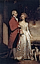 1786 Sir Christopher and Lady Sykes strolling in the garden at Sledmere by George Romney (location unknown)