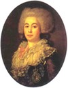 1787 Anna Protassowa by Jean Louis Voille (State Russian Museum - St. Petersburg, Russia) Wm filled in shadows inc exp