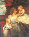 1787 Harriet, Viscountess Duncannon with her sons by John Hoppner (Rowland's Castle, Hampshire UK)