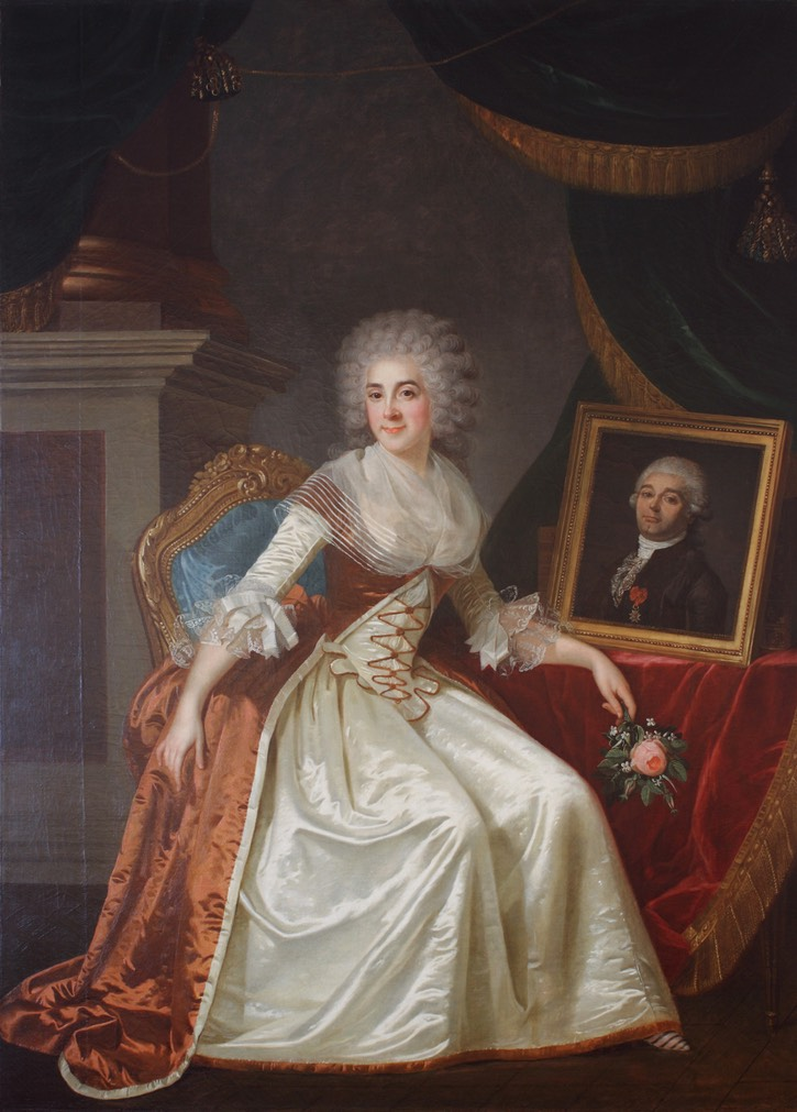 1787 Madame de Serres by Joseph Boze (location ?) From completeimagesofpaintings.tumblr.com/post/90962207725/portrait-of-madame-de-serres-joseph-boze-1787