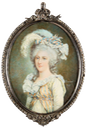 1787 Madame Élisabeth by the school of Claude Bornet (auctioned by Coutau-Begarie) From Pinterest search