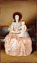 1787-1788 Condesa de Altamira and her daughter, María Agustina by Francisco de Goya y Lucientes (Metropolitan Mueum of Art - New York City, New York USA)