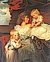1787 Henrietta, Viscountess Duncannon with her sons by John Hoppner (Rowland's Castle, Hampshire UK)