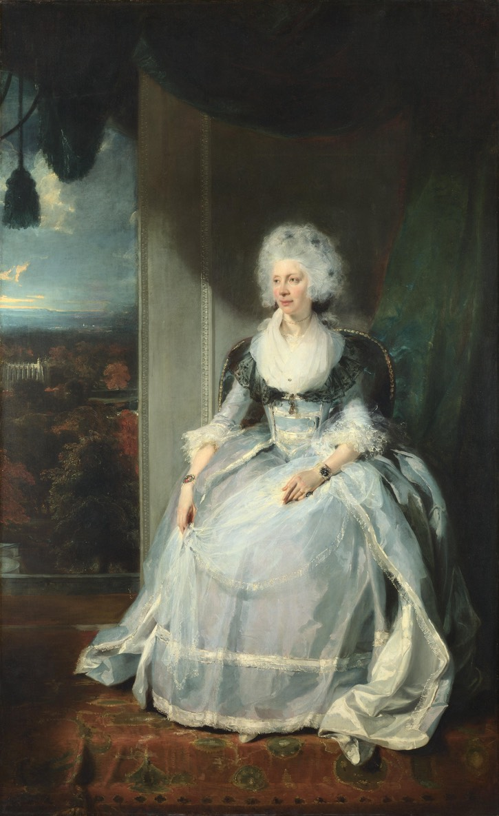 1789 Queen Charlotte seated with apron by Sir Thomas Lawrence (National Gallery - London, UK) UPGRADE From artemoda.unibg.it:page.asp?menu1=3&cerca=1&sog=174&mac=3&aut=0&geo=0&anno da=0&anno a=0