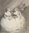 1790 Spencer Sisters, Duchess of Devonshire and her sister Viscountess Duncannon (later Countess of Bessborough) by Thomas Rowlandson