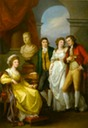1791 Catherine Petrovna Baryatinsky, her son Ivan Baryatinsky and daughter Anna with her husband Count Nikolai Aleksandrovich Tolstoy by Angelica Kauffmann (State Pushkin Museum - Moskva Russia)