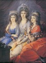 1792 Countesses (Hrabianki) Thun von Hohenstein by Wincenty de Lesseur (Polish Museum, Rapperswil - Rapperswil Switzerland)