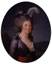 1793-1794 Presumed Portrait of the Marquise de Lafayette by Adélaïde Labille-Guiard (National Museum of Women in the Arts - Washington, DC, USA) NMWA fixed oval