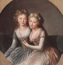 1795-1797 Grand Duchess Alexandra Pavlovna and Grand Duchess Elena Pavlovna by Élisabeth Louise Vigée-Lebrun (State Hermitage Museum - St. Petersburg Russia)