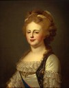 1796 Empress Maria Fiodorovna by ? after 1796 original by Johann-Baptist Lampi the elder (Hermitage)