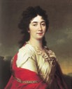 1800 Anne Protassova, former chamberlain of honor of Catherine II by Dmitry Levitzky (State Russian Museum - St. Petersburg, Russia) Wm