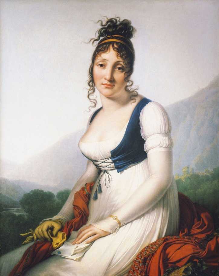 1800 Comtesse de Bonneval by Anne Louis Girodet de Roussy-Trioson (private collection) From the-athenaeum.org/art/full.php?ID=138625#