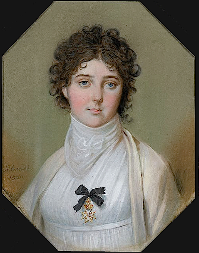 1800 Emma, Lady Hamilton, wearing Maltese Cross by Johann Heinrich Schmidt (National Maritime Museum - London UK)