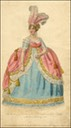 "1806 Marchioness of Townshend in La Belle Assemblée ""The Marchioness of Townshend in her full Court Dress as worn by her Ladyship on the Queen's Birth Day 1806"""