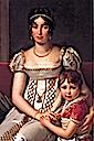 1806 (estimated) Hortense de Beauharnais with her son Napoleon Charles Bonaparte by François-Pascal-Simon Gérard (private collection)