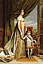 1807 Hortense with the Prince Royal of Holland by François-Pascal-Simon Gérard (Versailles)