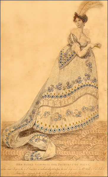 1807 Princess of Wales' court dress