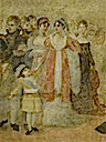 1808 Josephine and Hortense at ceremony honoring the painter David at the Louvre by Jean Gros (Versailles) by Gérard Blot