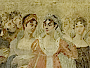 1808 Josephine and Hortense at ceremony honoring the painter David at the Louvre by Jean Gros (Versailles) outtake