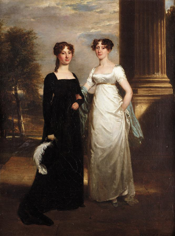 1810 Charlotte and Elizabeth Sullivan, daughters of Sir Richard Sullivan by Ramsay Richard Reinagle (auctioned by Sotheby's) From Sotheby's Web site X 1.5