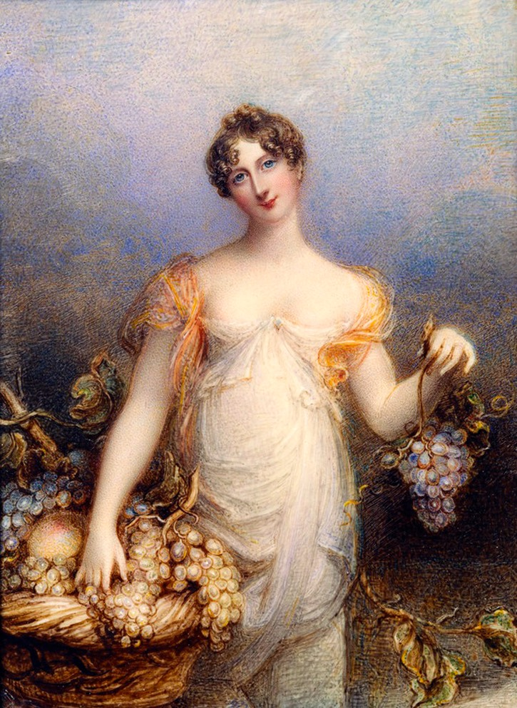 1813 Lady Cecilia Olivia Geraldine Foley, née Fitzgerald (1786-1863), Baroness Foley of Kidderminster by Anne Foldsone Mee (Royal Collection) From liveinternet.ru/users/4945357/post298629422