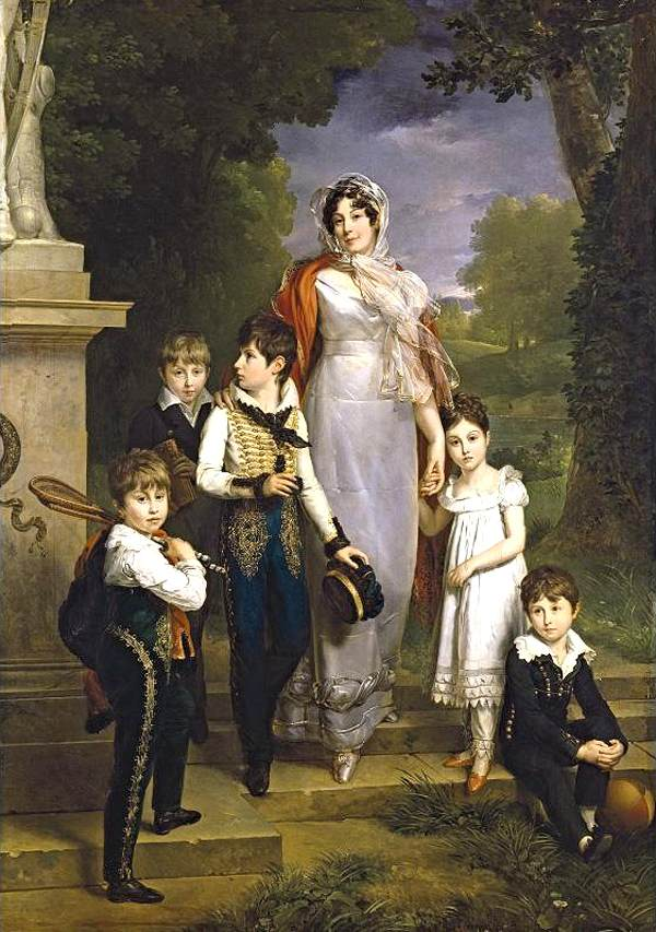 1814 Maréchale Lannes, Duchesse de Montebello with her children by Marguerite Gérard (private collection) From Web Gallery of Art
