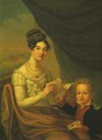 1816 Josephina Fridrix and son P. A. Alexandrov by ? (location unknown to gogm)