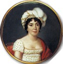 1816 Mme. Stael by Pierre Louis Bouvier (Chateau de Coppet - Coppet, Vaud, Switzerland) From pinterest.com:leighhallowell:paintings-of-women: