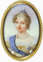 1817 Elizaveta Alexeievna oval portrait by ? (location unknown to gogm)