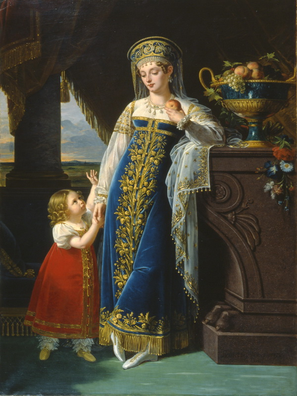 1817 Princess M. F. Baryatinsky with her daughter Olga by Robert Lefevre