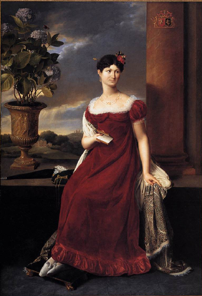 1818 Mary Lodge, bride of Baron Charles-Louis de Keverberg de Kessel by Joseph-François Ducq (Groeninge Museum, Bruges) W