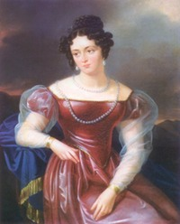 1820 Sofia Kiselyova (Potocki) by I. I. Oleshkevich (location unknown to gogm)